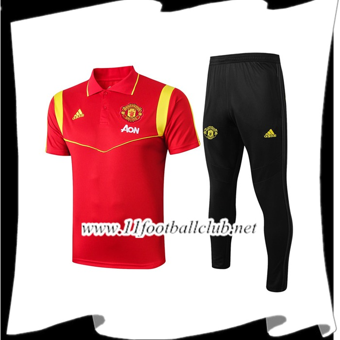 Le Nouveau Ensemble Polo Manchester United + Pantalon Rouge 2019/2020