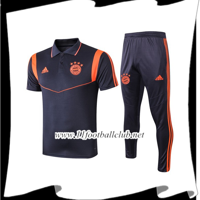 Le Nouveaux Ensemble Polo Bayern Munich + Pantalon Orange 2019/2020 Flocage