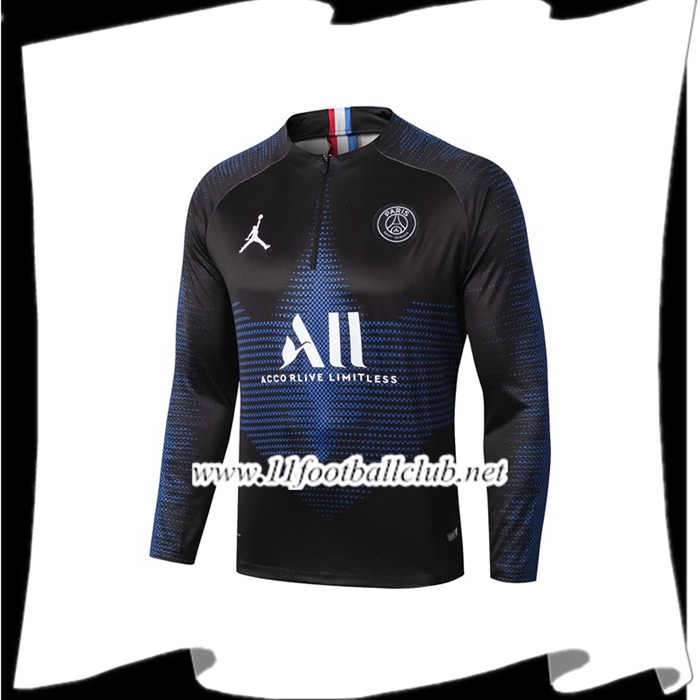 Le Nouveau Sweatshirt Training Paris PSG Jordan ALL Bleu Saphir 2019/2020 Officiel