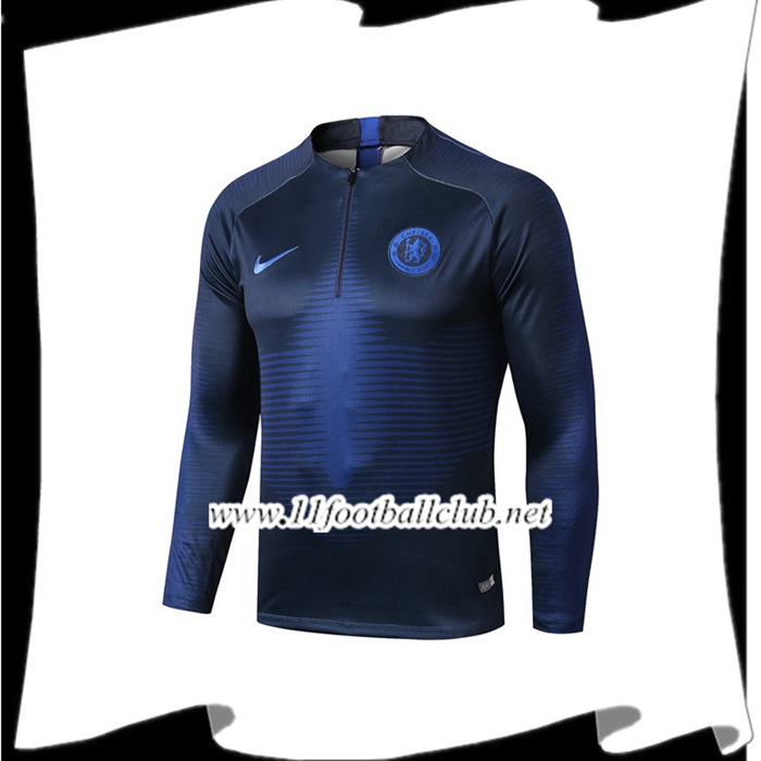 Le Nouveaux Sweatshirt Training FC Chelsea Bleu Saphir 2019/2020 Authentic