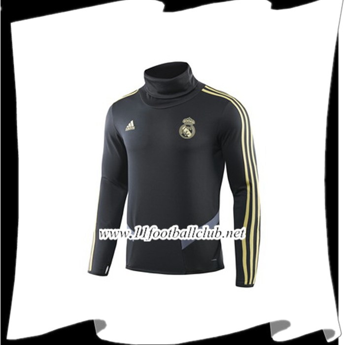 Le Nouveau Sweatshirt Training Real Madrid Noir 2019/2020 Vintage