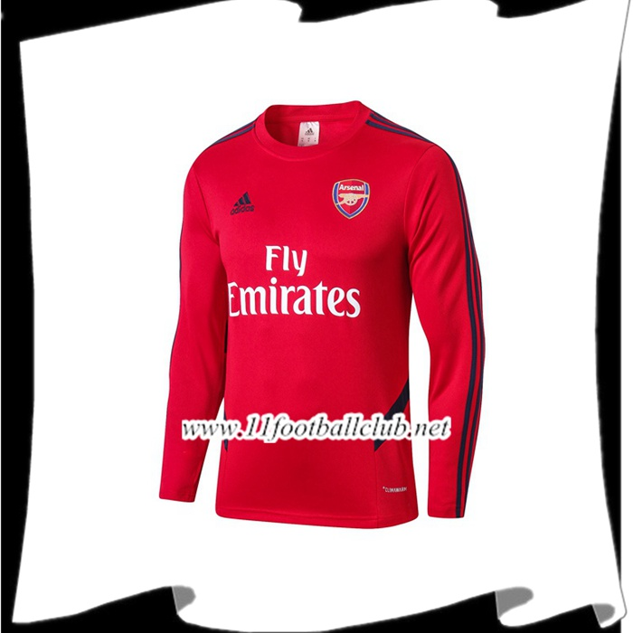 Le Nouveau Sweatshirt Training Arsenal Rouge 2019/2020 Officiel