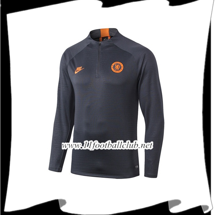 Le Nouveaux Sweatshirt Training Chelsea Orange 2019/2020 Authentic