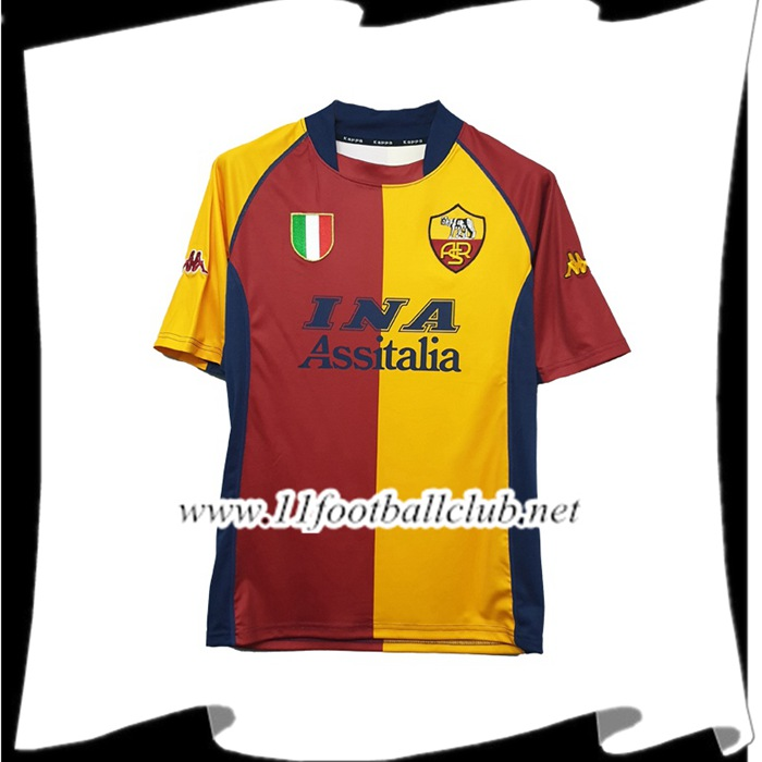 Le Nouveau Maillot de Foot AS Roma Domicile 2001/2002 Officiel