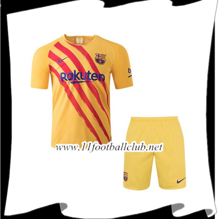 Le Nouveaux Maillot de Foot FC Barcelone Senyera Quatrieme 2019/2020 Authentic