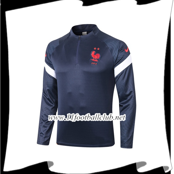 Le Nouveau Sweatshirt Training France Bleu Royal 2020/2021 Officiel