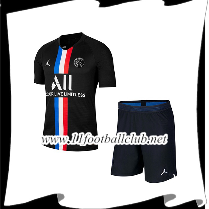 Le Nouveau Maillot de Foot Paris PSG X Jordan Enfants Quatrieme 2019/2020 Officiel