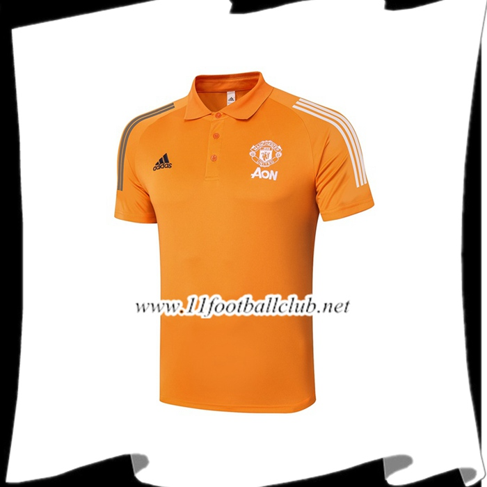 Nouveaux Polo Foot Manchester United Orange 2020/2021