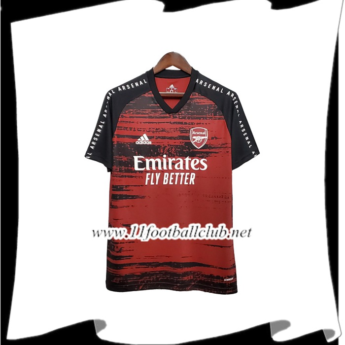 Le Nouveau Training T-Shirts Arsenal Noir/Rouge 2020/2021 Officiel