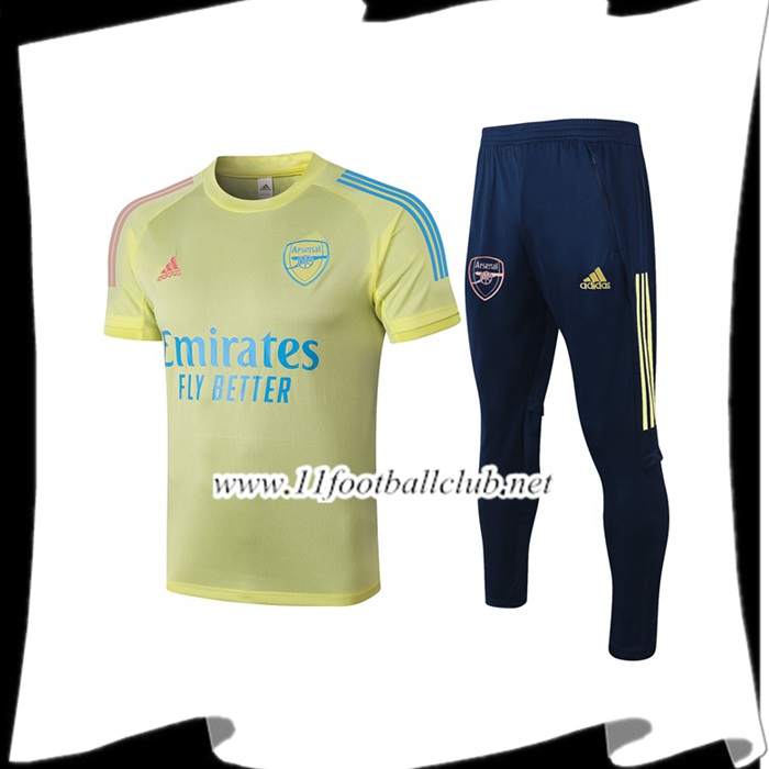 Ensemble Training T-Shirts Arsenal + Pantalon Jaune 2020/2021