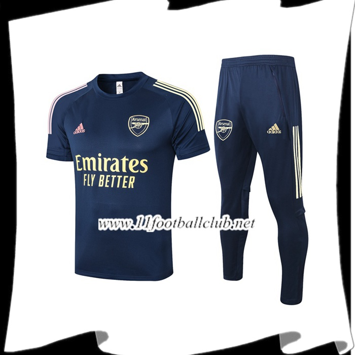 Ensemble Training T-Shirts Arsenal + Pantalon Bleu Royal 2020/2021