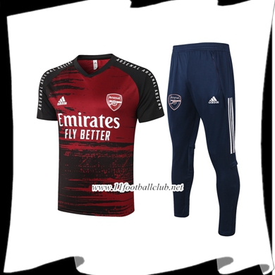 Le Nouveau Ensemble Training T-Shirts Arsenal + Pantalon Rouge 2020/2021