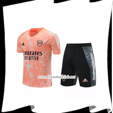 Ensemble Training T-Shirts Arsenal + Shorts Rouge 2020/2021