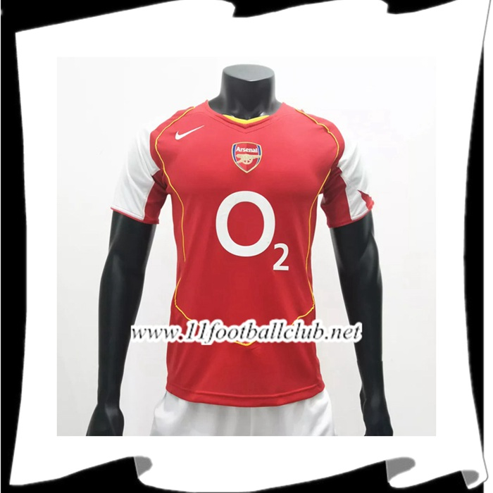 Maillot De Foot Arsenal Retro Domicile 2004/2005 Authentic