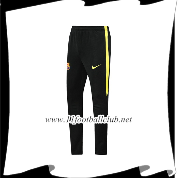 Le Nouveau Training Pantalon Foot FC Barcelone Noir Jaune 2019/2020 Officiel
