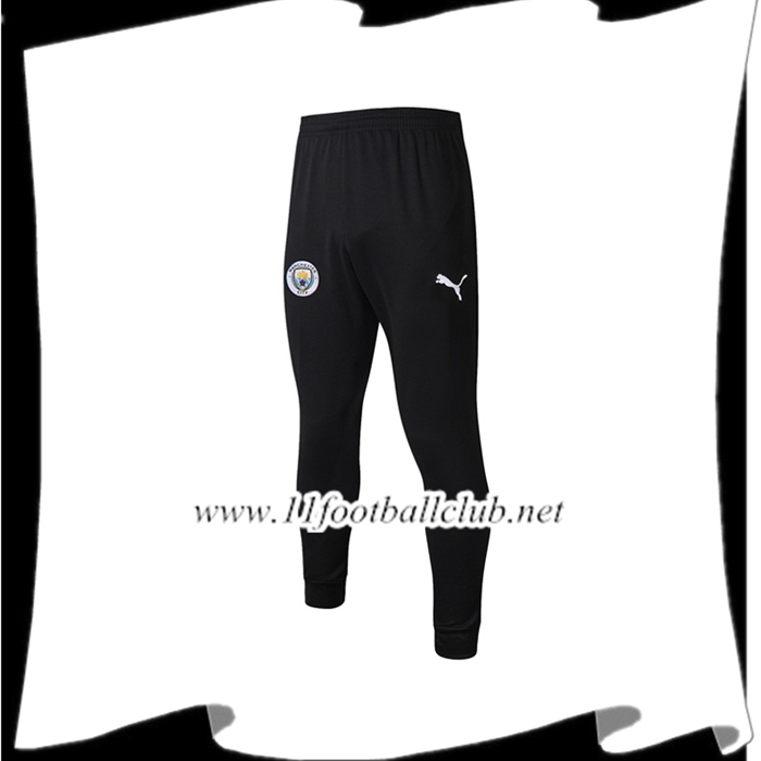 Le Nouveau Training Pantalon Foot Manchester City Noir Blanc LOGO 2019/2020 Officiel