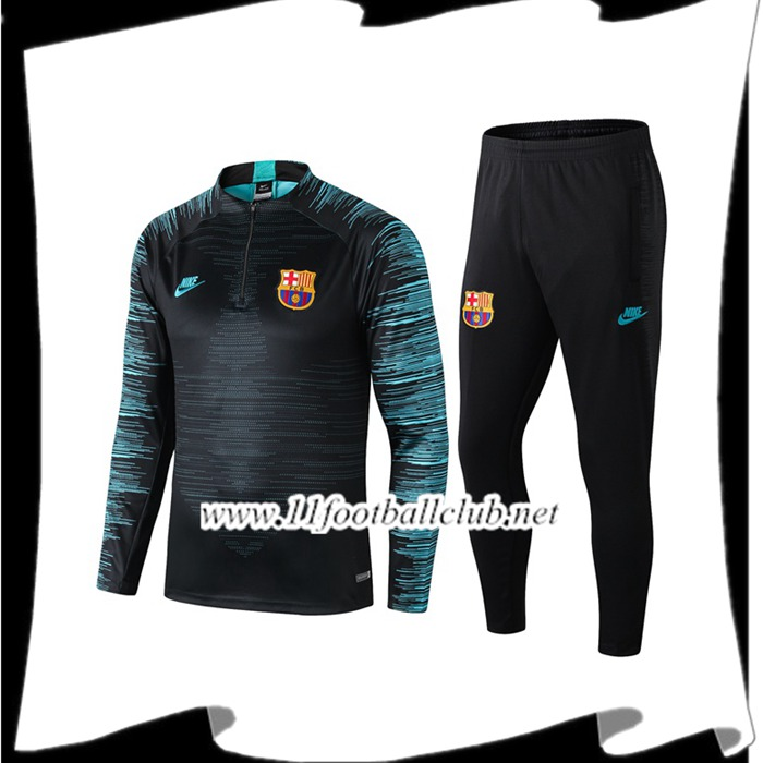 Le Nouveaux Ensemble Survetement Barcelone Noir 2019/2020 Authentic