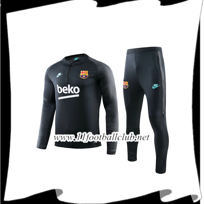 Le Nouveau Ensemble Survetement Barcelone Beko Gris 2019/2020 Officiel