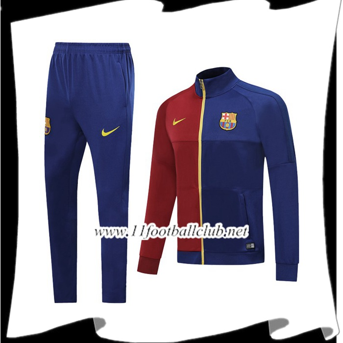 Le Nouveau Ensemble Veste Survetement de Foot FC Barcelone Rouge Bleu 2019/2020 Officiel