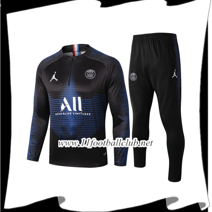 Le Nouveau Ensemble Survetement de Foot Paris PSG Jordan ALL Bleu Saphir 2019/2020