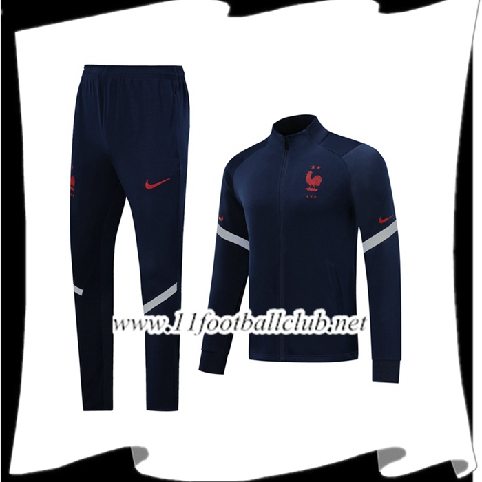 Le Nouveau Ensemble Veste Survetement France Bleu Royal 2019/2020 Vintage