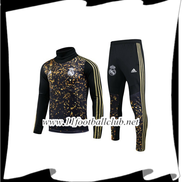 Nouveau Ensemble Survetement Real Madrid Adidas × EA Sports™ FIFA 20 Noir Col Haut 2019/2020