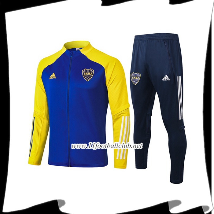 Nouveau Ensemble Veste Survetement de Foot Boca Juniors Bleu 2020/2021