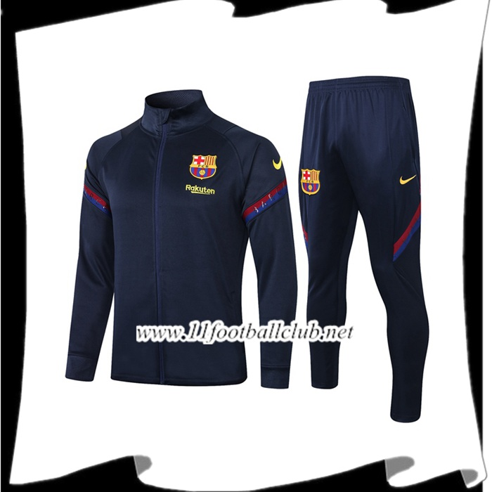 Le Nouveau Ensemble Veste Survetement FC Barcelone Bleu Royal 2020/2021