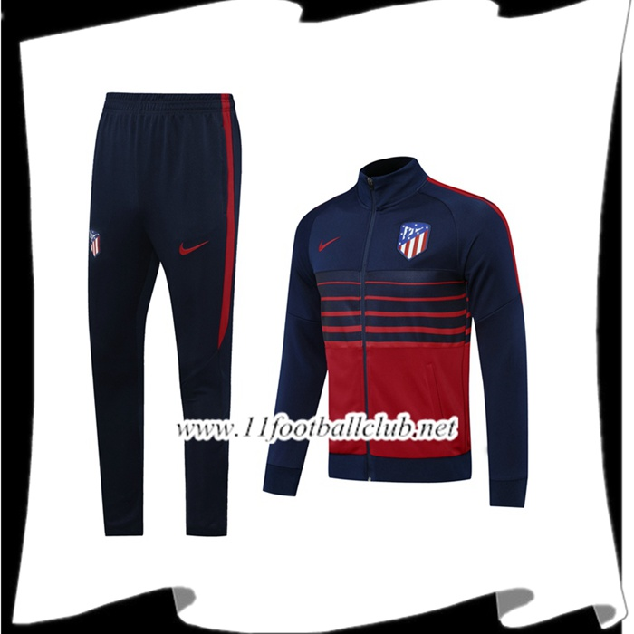 Le Nouveau Ensemble Veste Survetement Atletico Madrid Bleu Royal 2020/2021