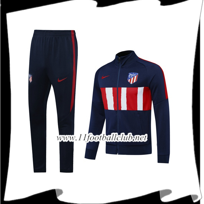 Ensemble Veste Survetement Atletico Madrid Bleu Royal Blanc 2020/2021