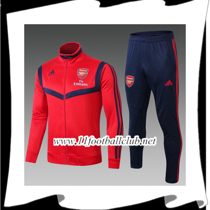 Le Nouveaux Ensemble Veste Survetement Foot Arsenal Enfant Rouge 2019/2020 Authentic