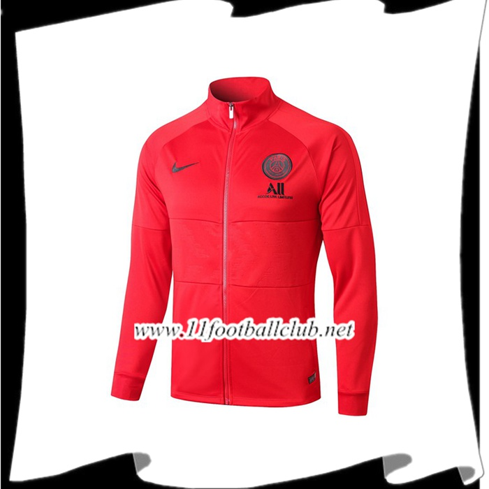 Le Nouveau Veste Foot Paris PSG NIKE ALL Rouge 2019/2020 Vintage