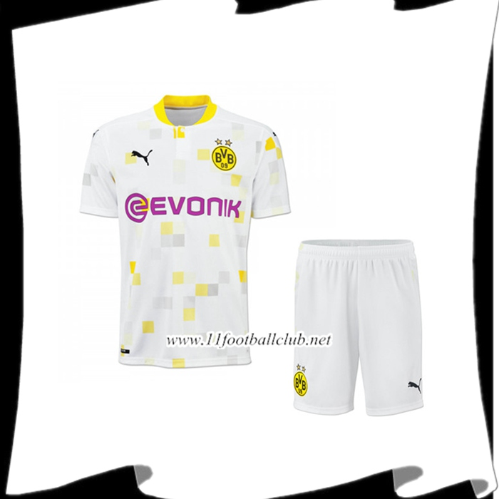 Nouveau Ensemble Maillot Foot Dortmund BVB Third + Short 2020/2021