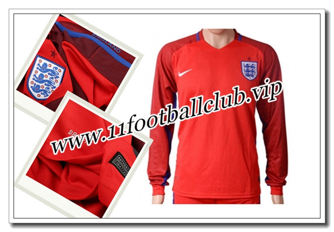 Maillot Angleterre Manche Longue,Achat Maillot du Angleterre Exterieur Manche Longue 2016/17 18 Pour 11footballclub Online
