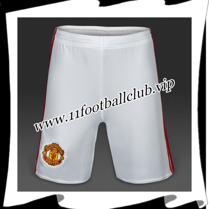 Le Nouveau Short De Foot Manchester United Blanc 2016 2017 Domicile Officiel