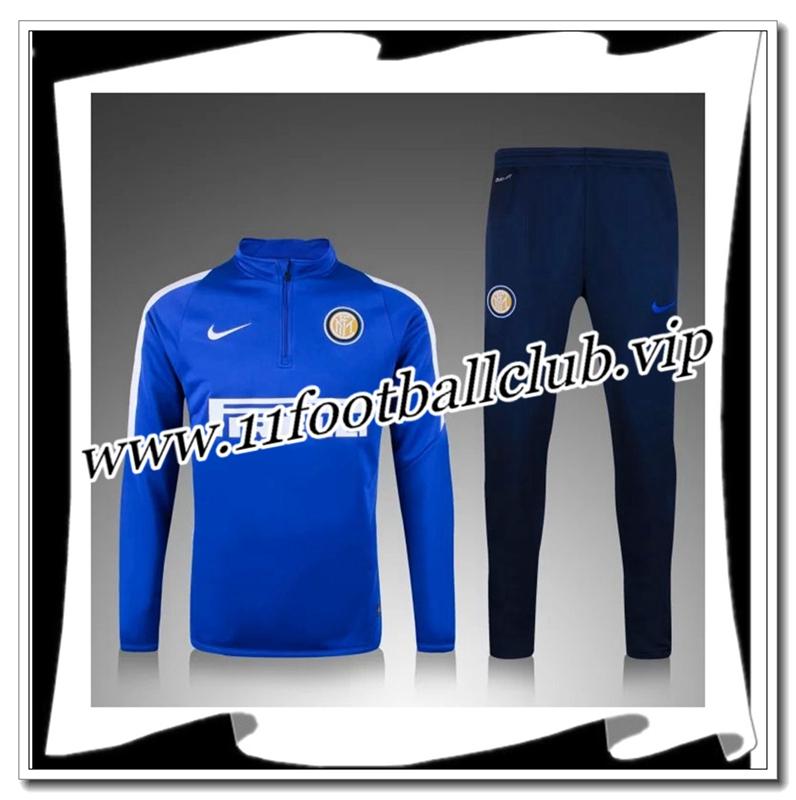 Le Nouveau Survetement de foot Inter Milan Bleue 2015 2016 Vintage