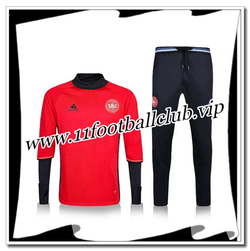 Le Nouveaux Survetement de foot Danemark Rose 2016 2017 Authentic