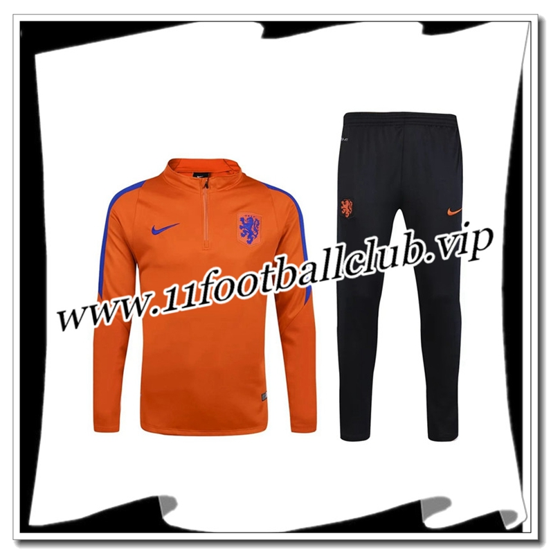 Le Nouveaux Survetement de foot Netherlands Orange 2016 2017 Flocage