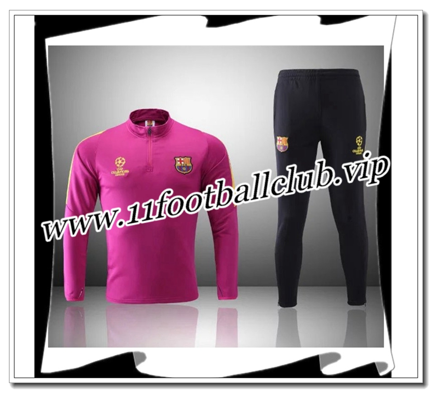 Le Nouveau Survetement de foot FC Barcelone Rose Noir 2016 2017 Officiel