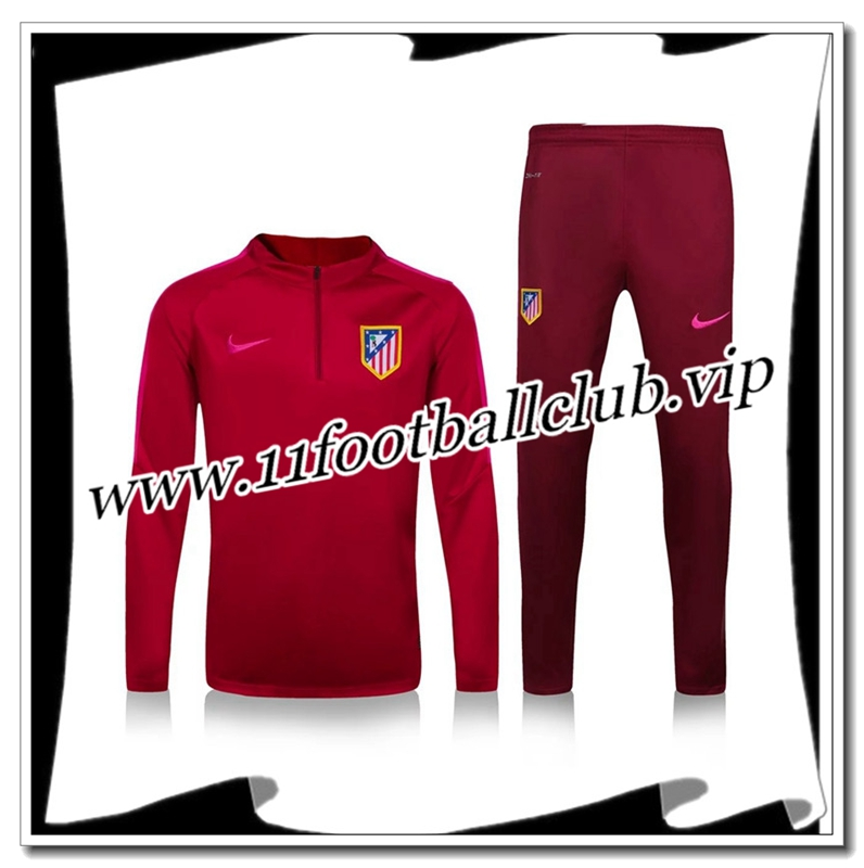 Le Nouveau Survetement de foot Atletico Madrid Rouge 2016 2017 Officiel