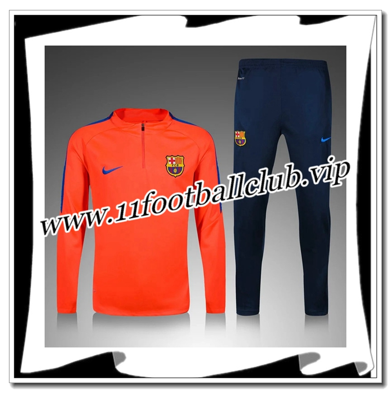 Le Nouveaux Survetement Barcelone Enfant Orange 2016 2017 Authentic