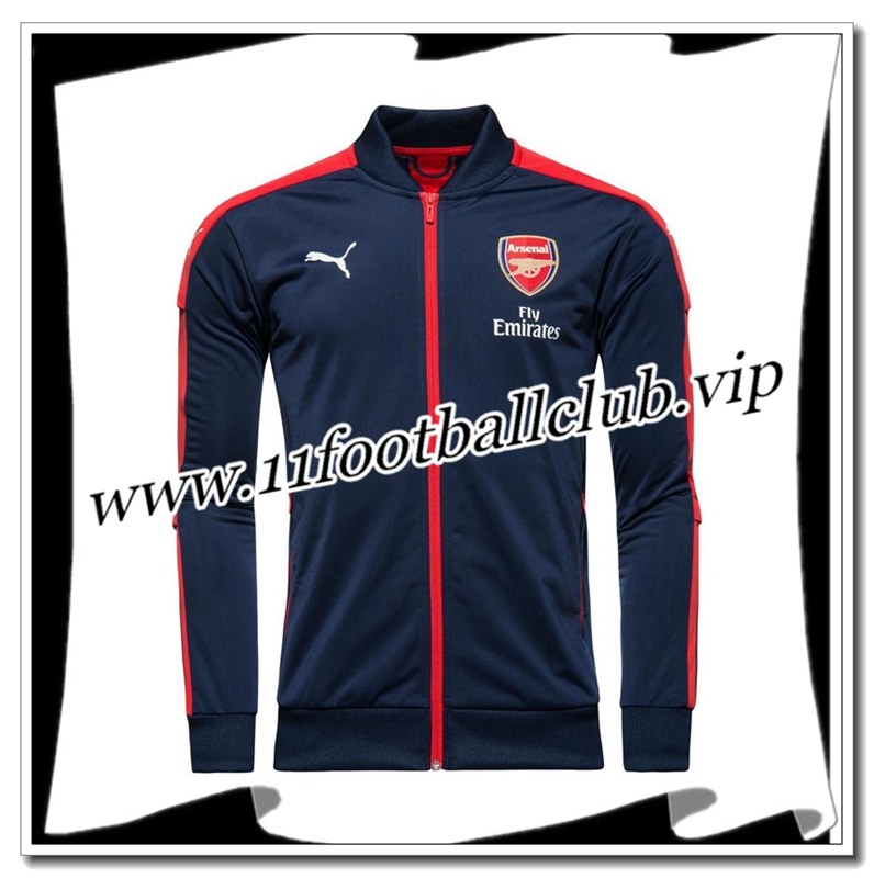 Le Nouveau Veste Arsenal Bleu/Rouge 2016/2017 Officiel