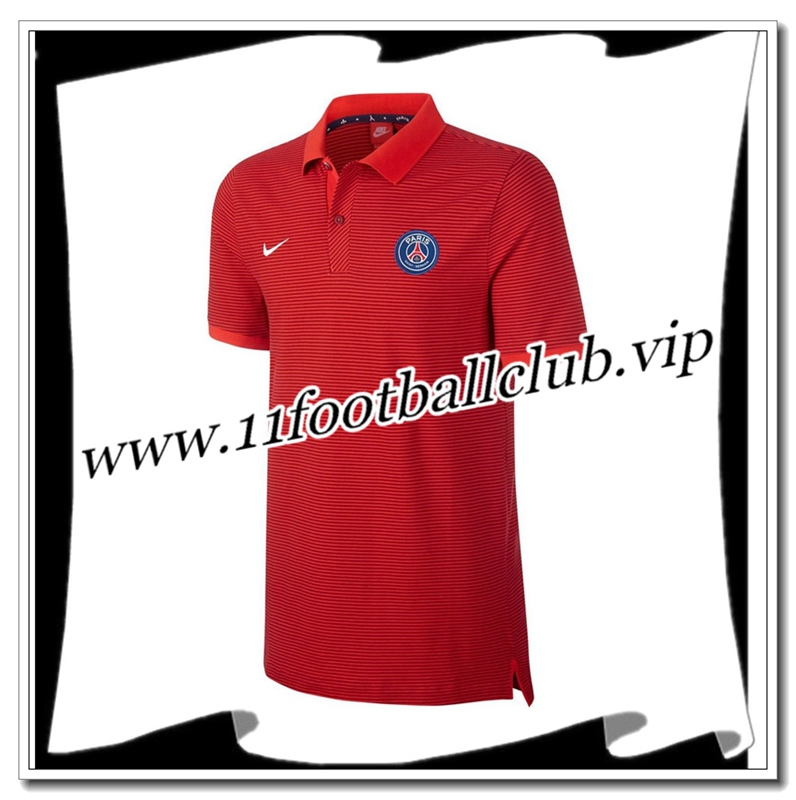 Le Nouveaux Polo Paris Saint-Germain PSG Rouge 2016/2017 Officiel