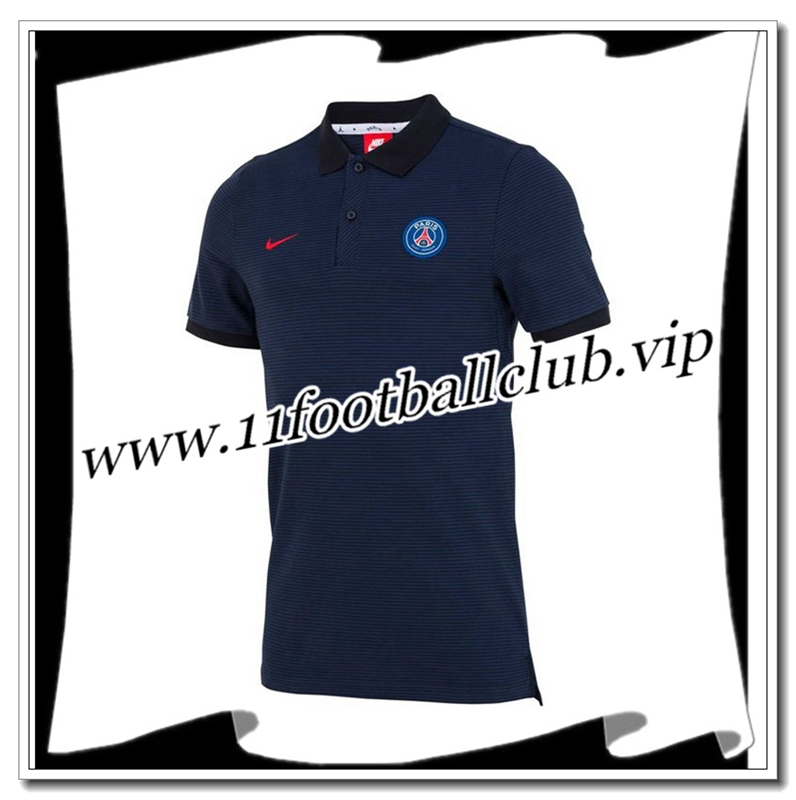 Le Nouveau Polo Paris Saint-Germain PSG Obsidienne/Rouge 2016/2017 Officiel