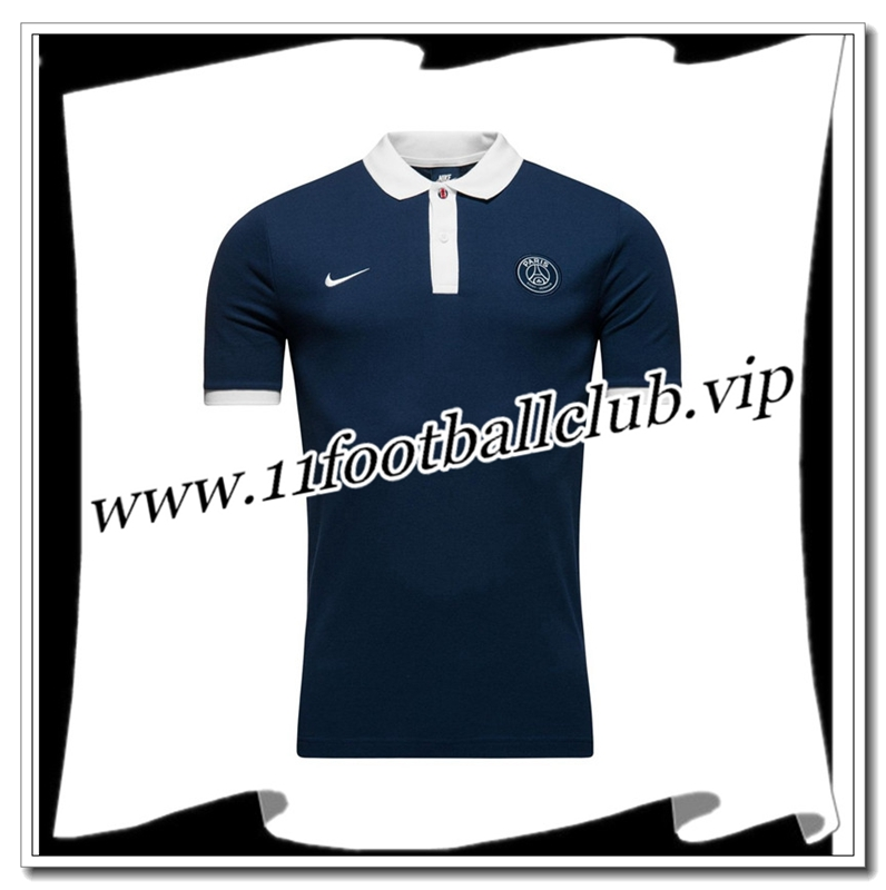 Le Nouveaux Polo Paris Saint-Germain PSG Bleu Marine 2016/2017 Authentic
