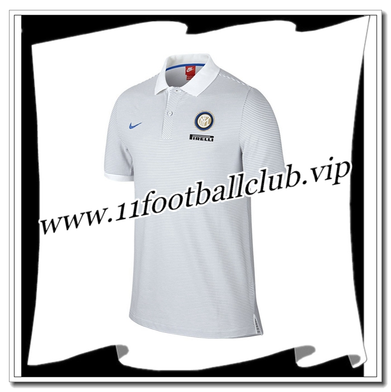 Le Nouveau Polo Inter Milan Blanc 2016/2017 Officiel