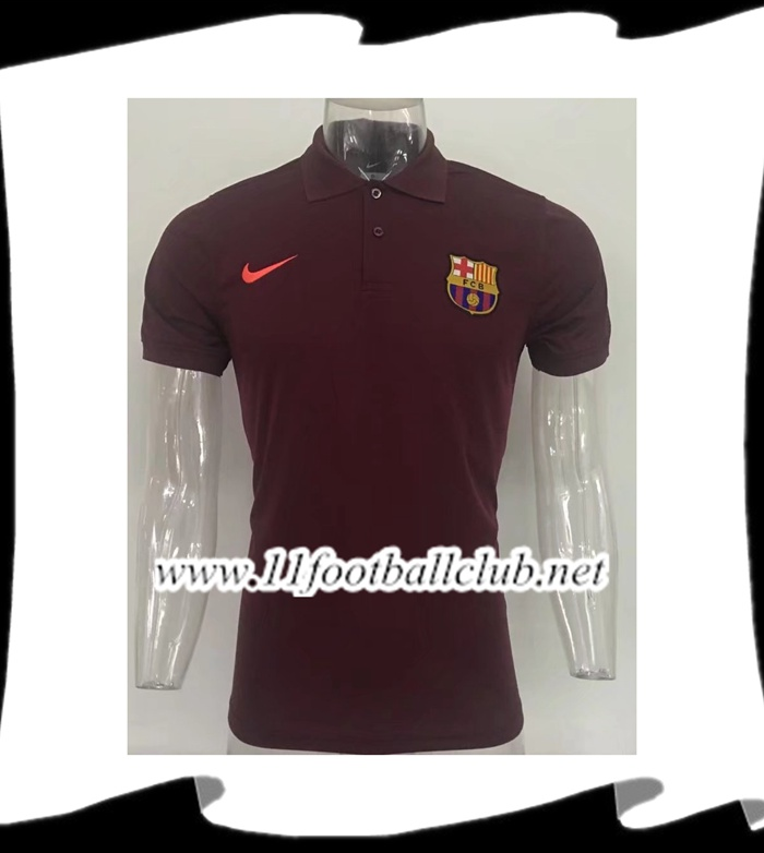 Créer Polo FC Barcelone Brown 2017/2018 Pas Cher Outlet