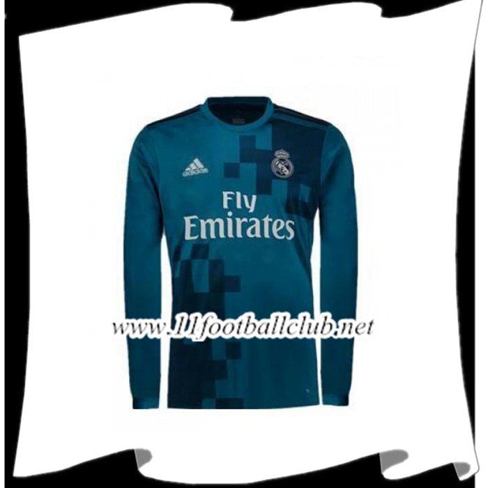 Le Nouveau Maillot de Real Madrid Manche Longue 2017/2018 Third Officiel
