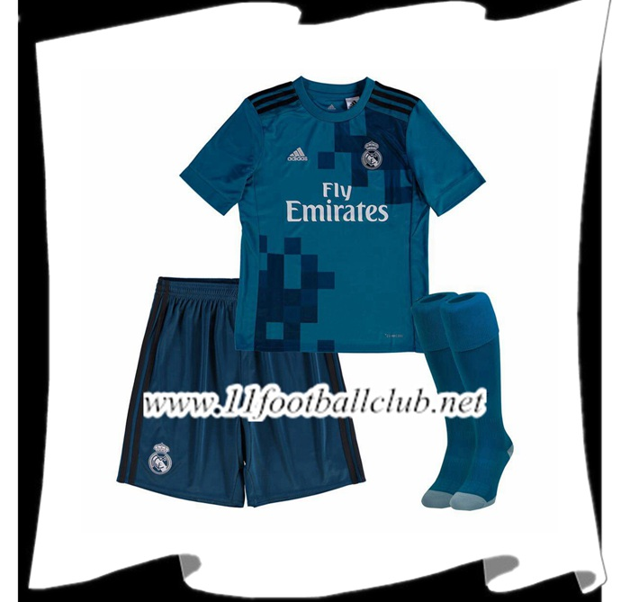Le Nouveau Maillot Real Madrid Enfant Third 2017/2018 Officiel
