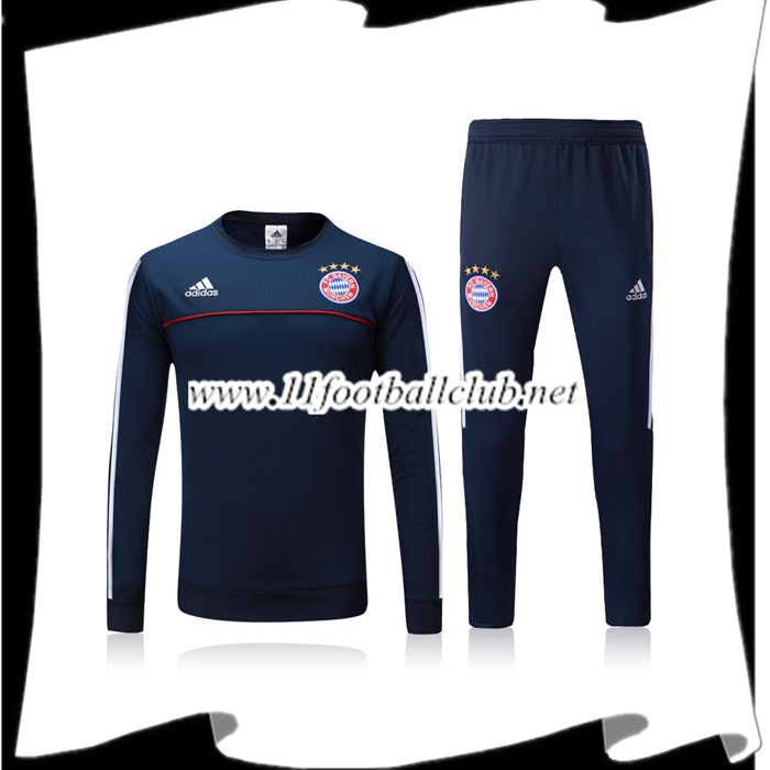 Le Nouveau Survetement Bayern Munich Bleu Marine Ensemble 2017/2018 Officiel